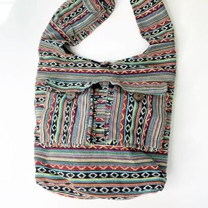 Oversized Colorful Woven Bag Tote Purse India Made